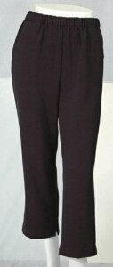 【橘高】婦人用裾開きファスナー付き スラックス60丈 グレー 3L女性用 介護服 ズボン パンツ チャック お年寄り 高齢者