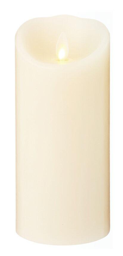 【カメヤマ】LED型キャンドル ルミナラピラー 3×4インチろうそく/電気/LEDライト/癒し/インテリア/リラクゼーション