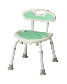 【サテライト】福浴コンパクトシャワーチェア グリーン風呂 いす 安価 シャワー 背もたれ 入浴 介護 お年寄り 高齢者