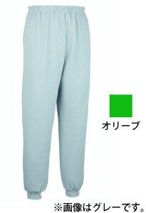 【大阪エンゼル】スクエアニット裾リブ付きズボン オリーブ S介護服 パンツ ゴム お年寄り 高齢者