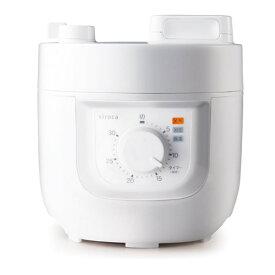 ★100円クーポン配布中★ siroca シロカ 電気圧力鍋 SP-A111(W) レシピ本付き 1台4役 圧力調理 無水調理 蒸し調理 炊飯 スロー調理機 かんたん電気圧力なべ SPA111