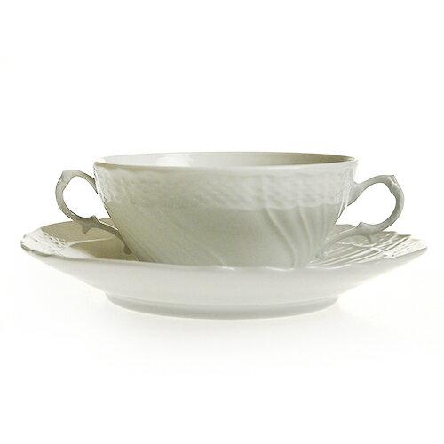 リチャード・ジノリ (Richard Ginori) ベッキオホワイト スープカップ&ソーサー 3235