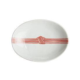 【SUMMER SALE 2019】日下華子 九谷焼 赤絵帯締め 楕円浅鉢 #184