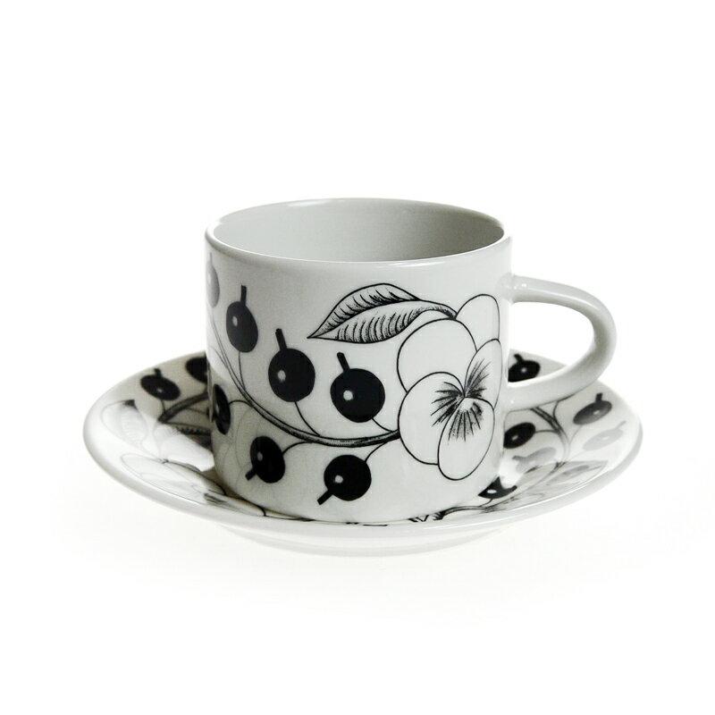 アラビア (ARABIA) ブラックパラティッシ コーヒーカップ&ソーサー