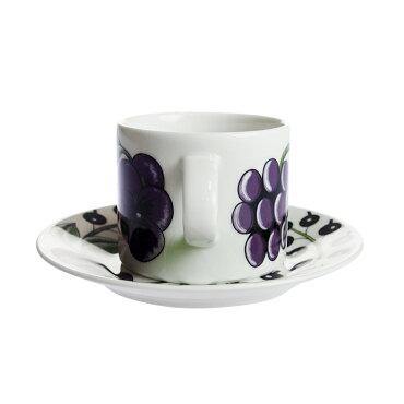 アラビア(ARABIA)パラティッシパープルコーヒーカップ&ソーサー