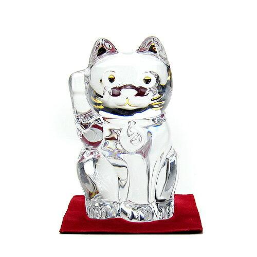 ●【訳ありB級アウトレット】バカラ (Baccarat) 招き猫 クリア 2-607-786送料無料【包装・熨斗・返品交換不可】