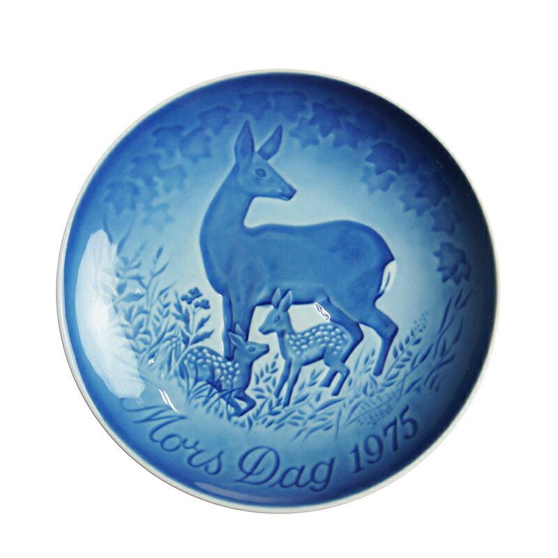 【送料無料祭】ビング・オー・グレンダール (Bing&Grondahl) マザーズデイプレート 1975年 鹿の親子