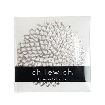 チルウィッチ(chilewich)ダリアフローラルコースター6枚セットシルバー
