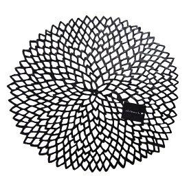 チルウィッチ (chilewich)ダリア フローラル プレイスマット ブラック 36x39cm【ギフト包装不可商品】