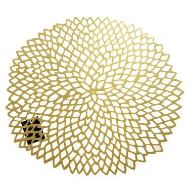 チルウィッチ(chilewich)ダリアフローラルプレイスマットゴールド36x39cm