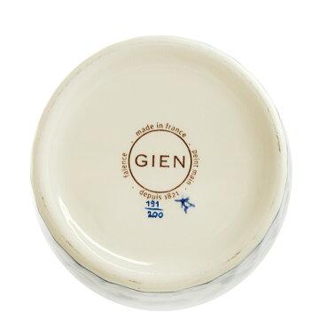 ジアン(Gien)ピボアンPivoineブルーベース36cm