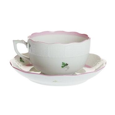 ヘレンド(HEREND)VRHX4ウィーンのバラピンクティーカップ&ソーサー724【あす楽対応】