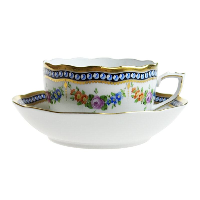 ヘレンド (HEREND) GPN 真珠の首飾り ティーカップ&ソーサー 20704【あす楽対応】