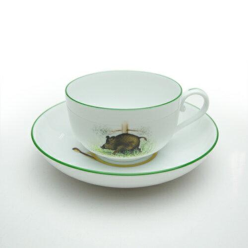 ヘレンド (HEREND) TDC ティーカップ&ソーサー(※イノシシ/ヘラジカ/鳥※のパターンがあります)
