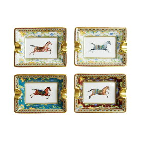 エルメス (HERMES) シュヴァルドリアン Cheval d'Orient オリエントの馬 トレー 4枚セット 09478P
