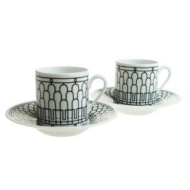 エルメス (HERMES) H アッシュデコ コーヒーカップ&ソーサー ペア 90ml 037017P2