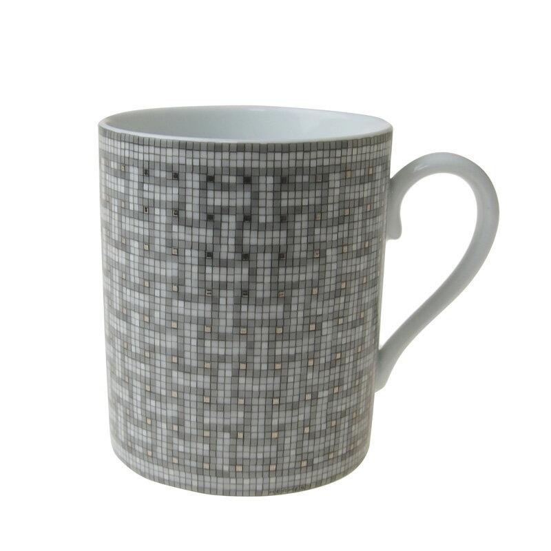 【送料無料祭】エルメス (HERMES) モザイク 24 プラチナ マグカップ 35031P