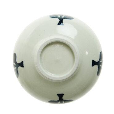九谷青窯徳永遊心4.5寸鉢くびれ三枚葉NTY-028