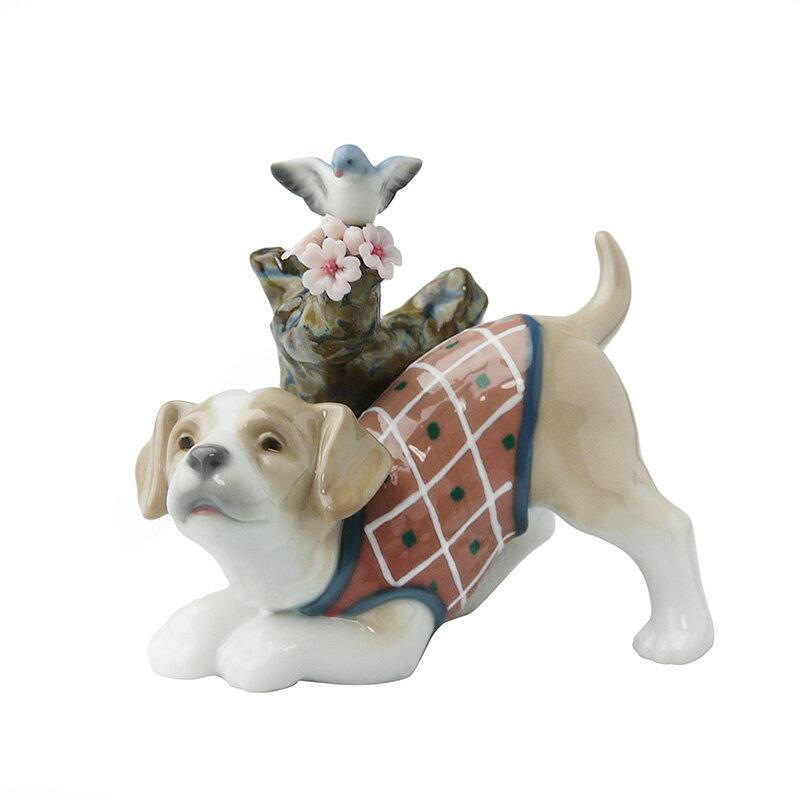 【在庫お問い合わせください】リヤドロ (LLADRO) 人形 桜の咲くころ 仔犬 8381