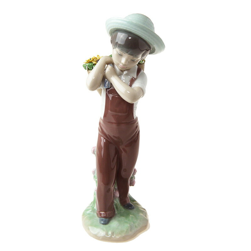 リヤドロ (LLADRO) 人形 花かごの少年 8675