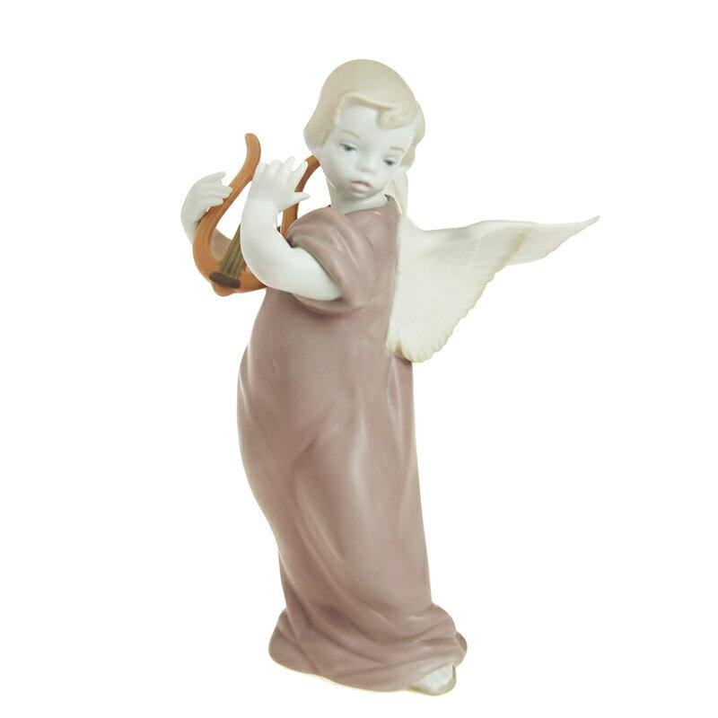 【在庫お問い合わせください】リヤドロ (LLADRO) 人形 リラを弾く天使 9187