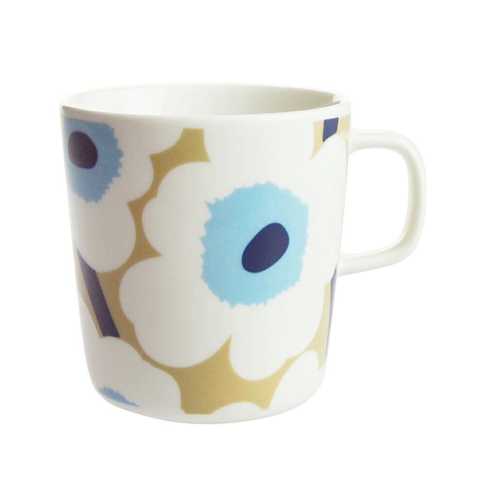 マリメッコ (marimekko) ウニッコ マグカップ 400ml ベージュ×ホワイト×ブルー