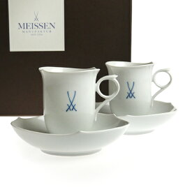 マイセン (Meissen) NEW マイセンマーク コーヒーカップ&ソーサー ペア c2820