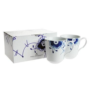 ロイヤルコペンハーゲン(ROYALCOPENHAGEN)ブルーフルーテッドメガペアマグカップ