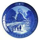 【送料無料祭】ロイヤルコペンハーゲン イヤープレート 1973年 クリスマスの帰省【あす楽対応】
