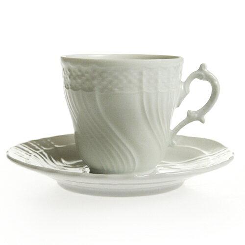 リチャード・ジノリ ベッキオホワイト コーヒーカップ&ソーサー [L]