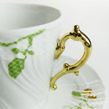 リチャード・ジノリ(RichardGinori)フィオーリヴェルディコーヒーカップ&ソーサー(L)