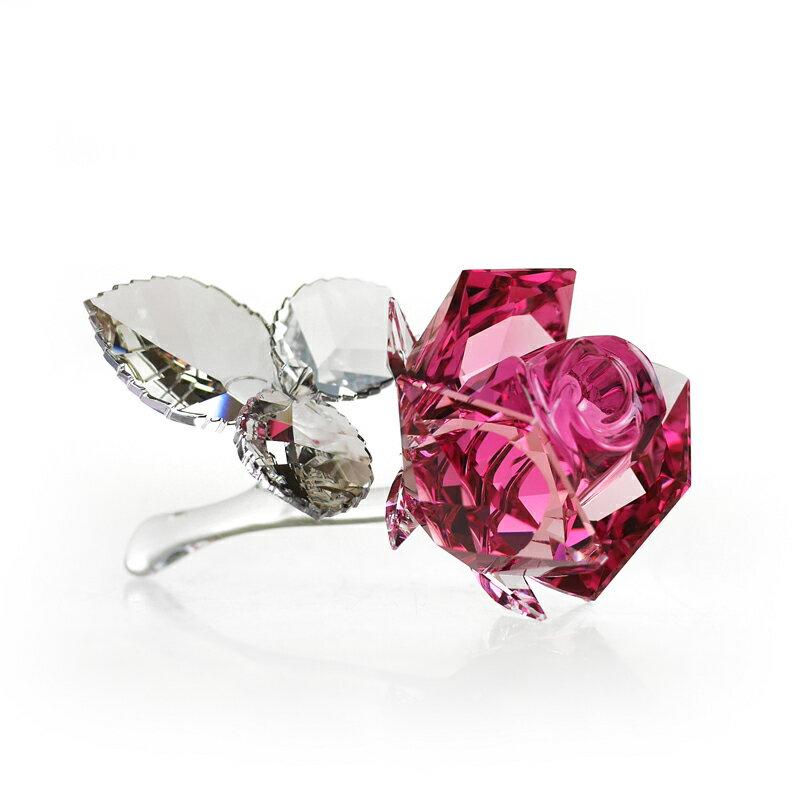 スワロフスキー (SWAROVSKI) 置物 612 ブロッサミングローズ Lignt Rose 薔薇