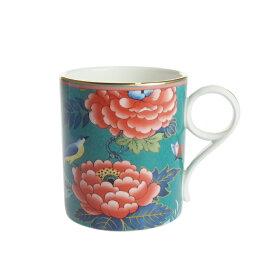 ウェッジウッド (WEDGWOOD) ペオニア ブラッシュ マグカップ グリーン【Autumn Sale 2020】