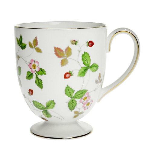ウェッジウッド (WEDGWOOD) ワイルドストロベリー フッティドマグカップ
