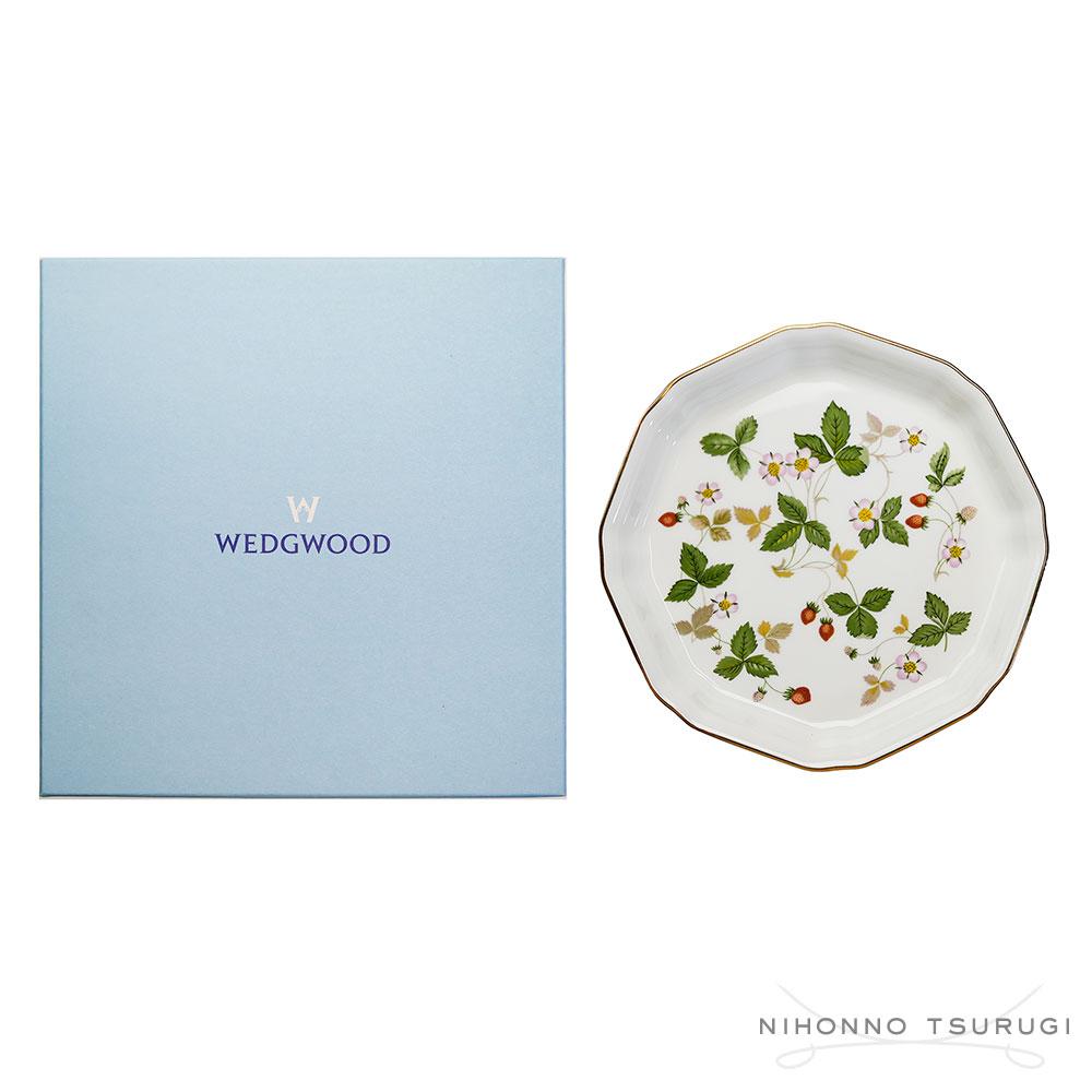 ウェッジウッド (WEDGWOOD) ワイルドストロベリー オクタゴナルディッシュ[S]