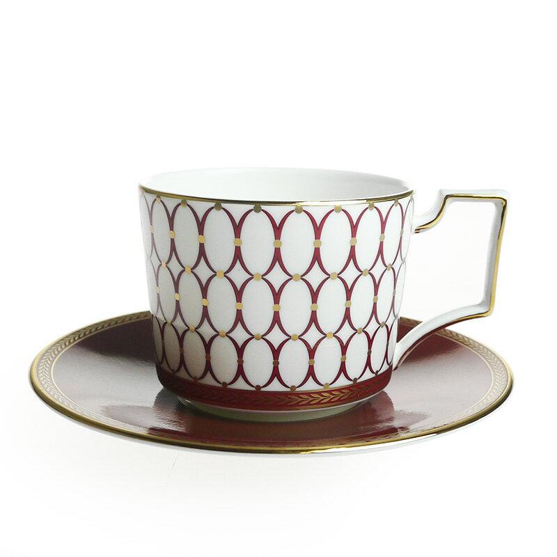 ウェッジウッド (WEDGWOOD) ルネッサンス レッド ティーカップ&ソーサー