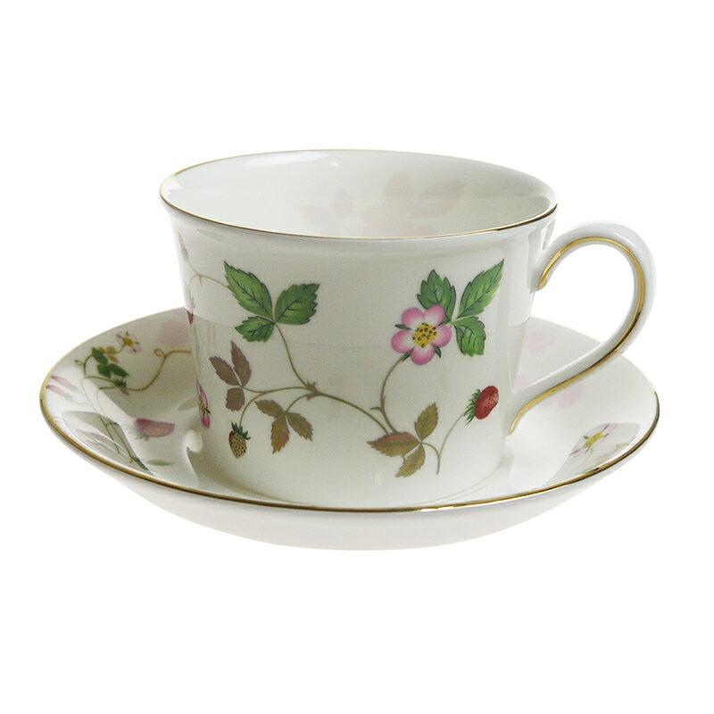 【Autumn*Sale】ウェッジウッド (WEDGWOOD) ワイルドストロベリーパステル ティーカップ&ソーサー ピンク