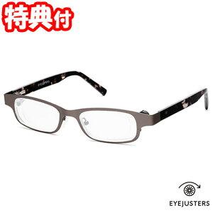 《200円クーポン配布》 アイジャスターズ 度数可変シニアグラス これ1本 オックスブリッジ リーディンググラス メガネ 眼鏡 めがね 老眼鏡 左右独立調整可能 EYEJUSTERS