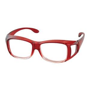 《クーポン配布中》 高倍率メガネタイプ拡大鏡 ワインレッド 男女兼用 高倍率1.8倍拡大鏡 メダガネタイプ めがね型ルーペ 眼鏡の上からかけられる