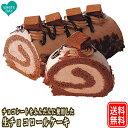 生チョコロールケーキ 17cm あす楽 送料無料 ギフト 送料込 ロールケーキ チョコレート バースデー ケーキ 甘くない …