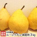 家庭用 訳ありル・レクチェ3kg(6〜11個)岩福農園(新潟)幻の洋梨ルレクチェ【送料無料】