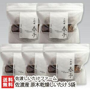 新潟 佐渡産 原木乾燥しいたけ 5袋(1袋あたり80g)佐渡しいたけファーム【椎茸/シイタケ/きのこ/キノコ/茸/自然栽培/乾物】【送料無料】