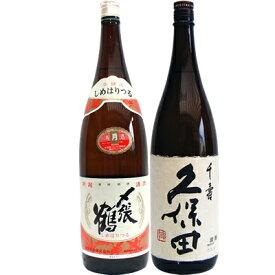 〆張鶴 月 本醸造 1.8Lと久保田 千寿 吟醸 1.8L 日本酒 飲み比べセット 2本セット
