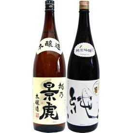 越乃景虎 本醸造 1.8Lと〆張鶴 純 純米吟醸1.8L 日本酒 飲み比べセット 2本セット
