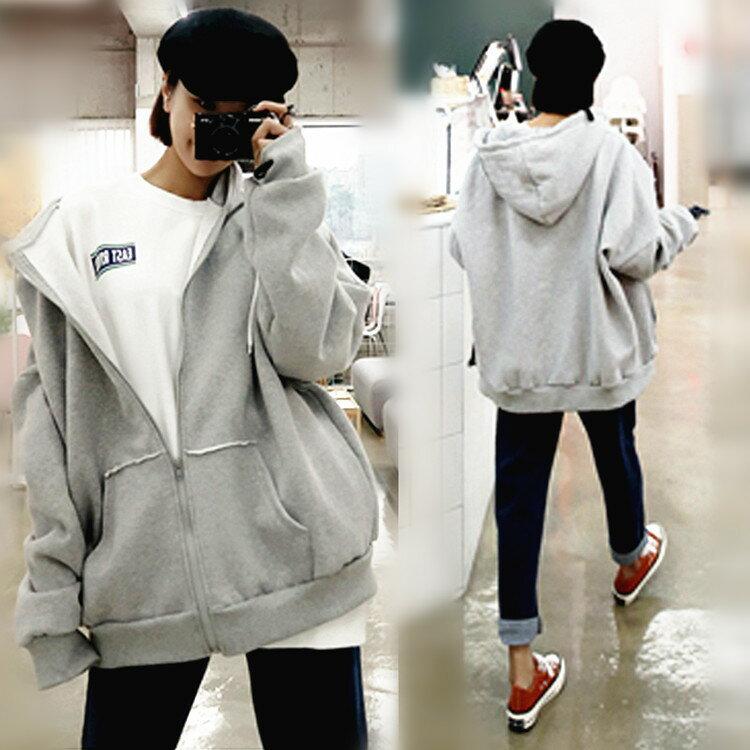 韓国風 パーカー レディースパーカー フード ポケット付き パーカ 無地 長袖 厚手 大きいサイズ フリーサイズ 春