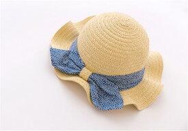 麦わら帽子 キッズ ストローハット 子供用 女の子 麦わらハット   帽子 夏 ハット UVケア UV帽子  UV ハット 日焼け止め UV対策 紫外線ケア 紫外線対策 メール便対応