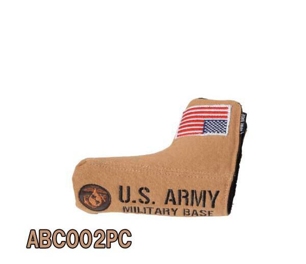 アーミーベースコレクションABC-002PC ピン型パター用ヘッドカバーUS ARMアイアンカバー/USアーミーアイアンカバーARMY BASE COLLECTION【ポイント10倍】