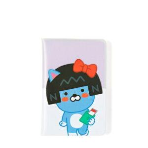 公式 カカオフレンズ リトルフレンズ 透明 パスポートケース リトルネオ   キャラクター カバー 旅券 トラベルポーチ 財布 旅行 韓国 可愛い キャラ 超軽量 人気 おすすめ ねこ 猫 ブルー ネ