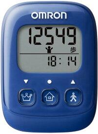 オムロン(OMRON) 歩数計 ブルー HJ-325-B 4975479409363 万歩計 健康 字が大きい 見やすい ポケット バッグ 首からさげる 簡単 おすすめ ダイエット