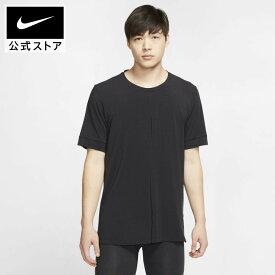 ナイキ ヨガ メンズ ショートスリーブ トップアパレル メンズ スポーツ トレーニング フィットネス ジム トップス Tシャツ 半袖 半袖Tシャツ Dri-FIT